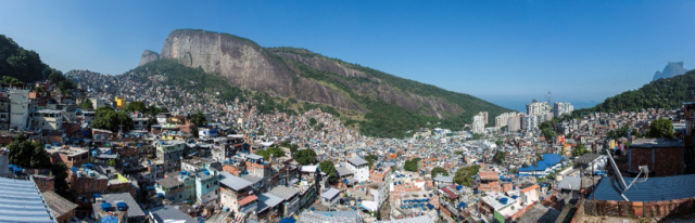 Rio's Rocinha favela in the foreground. Source: Wikipedia