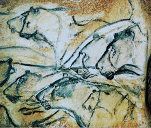 Representation of Cave Lions, Chauvet, France. Source: Wikipedia