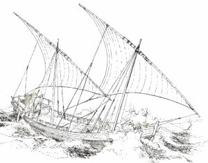 Reconstruction of a medieval ship found sunk in the Black Sea. Source: Jon Adams/University of Southampton