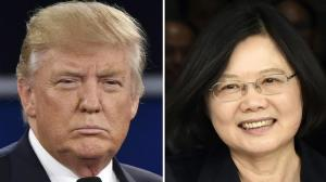 U.S. president-elect Donald Trump and Taiwan's President Tsai Ing-wen Source: Staff/AFP/Getty Images/Chicago Tribune
