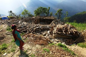 Earthquake destruction in a village. Source: Practical Action